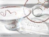 Dekoracje świąteczne, szklane świeczniki
