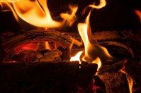 kominek, ogień, ogrzewanie