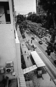ulice miasta na fototapecie